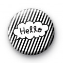 Hello Speech Bubble Button Badges