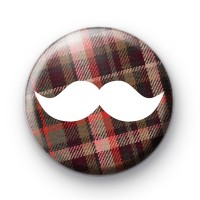 Highland Moustache Movember Badge
