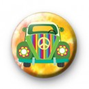 Rainbow Hippie VW Car badge