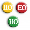 Christmas HO HO HO badges