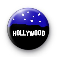 Hollywood Hills Button Badge