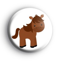 Cute Farmyard Donkey Badge thumbnail