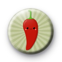 Hot Red Chilli Button Badge