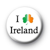 I Love Ireland badges