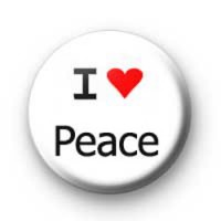 I Love Peace badges