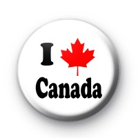 I Love Canada Badges