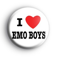 I Love Emo Boys Badge