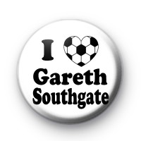 I Love Gareth Southgate Button Badge