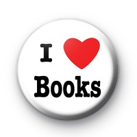 I Love Books Button Badge