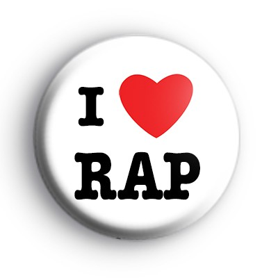 I Love Rap Badge
