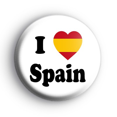 I Love Spain Button Badge