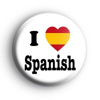 I Love Spanish Flag Heart Badge