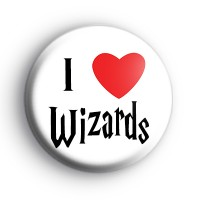 I Love Wizards Badge