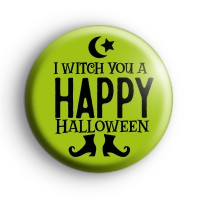 I Wich You a Happy Hallloween Badge