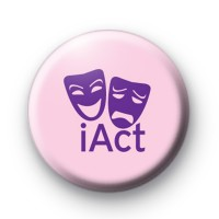 Pink and Purple iAct Theatre Drama Badge