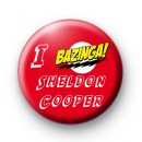 I Bazinga Sheldon Cooper Big Bang theory badges