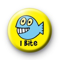 I bite cute Fish badge