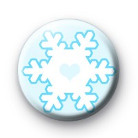 Ice Cold Blue Snowflake Button Badges