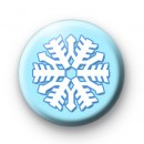 Icy Cold Blue Snowflake badge