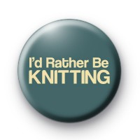 Id Rather Be Knitting Badge