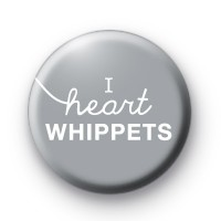 I Heart Whippets Grey badge