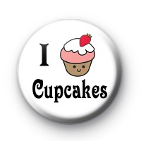 I Love Cupcakes Button Badges
