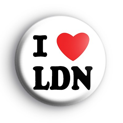 I Love LDN Button Badge