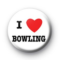 I Love Bowling badge
