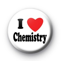 I Love Chemistry Button Badge