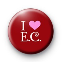 I Love E C badge