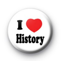 I Love History Button Badges