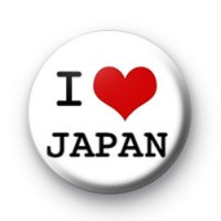 I Love Japan Badge