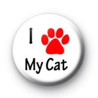 I Love my cat badges
