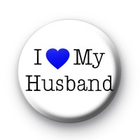 I Love My Husband Badge