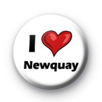 I Love Newquay badges