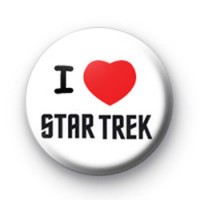 I Love Star Trek Badge