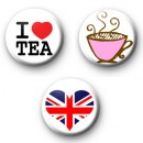 Set of 3 Tea badges