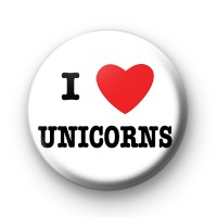 I Love Unicorns badges