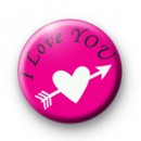 I Love You Badge Pink badges