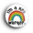 Rainbow Im a Key Worker Badge