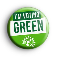 Im Voting Green Party UK Election Badge