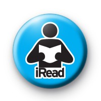 iRead Blue Button Badge
