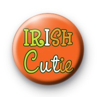 Orange Irish Cutie Button Badges