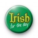 Irish For the Day Green Button Badges