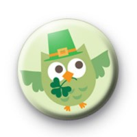 Lucky Irish Owl badge