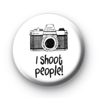 I Shoot People Camera Badge