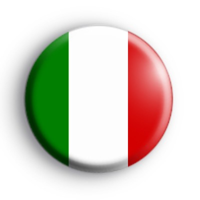 Italian Flag Button Badge