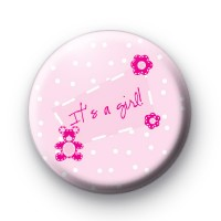 It's a Girl Baby Pink Badges