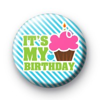 Its My Birthday Pink Cupcake Badges