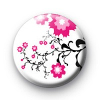 Japanese flowers badges